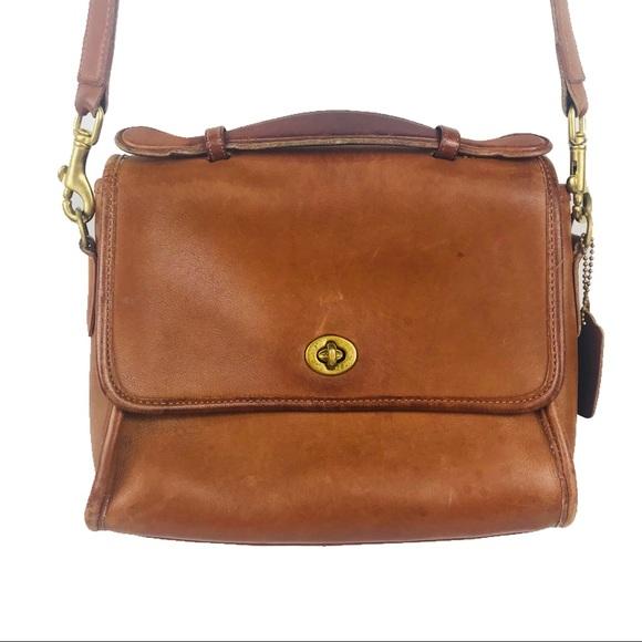 Vintage Petite Crossbody in British Tan Leather